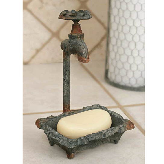 Buy Vintage Style Water Faucet Soap Dish Rustic Finish By