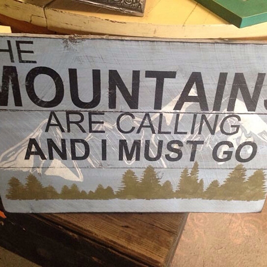 Buy the mountains are calling and i must go home decor for The mountains are calling and i must go metal sign