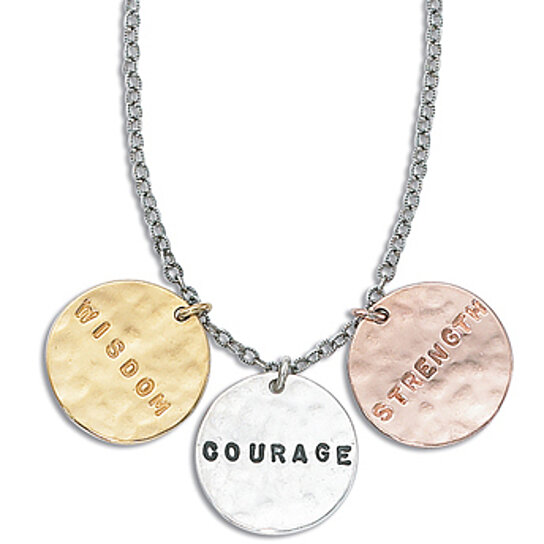 buy wisdom courage strength necklace by gk designs on opensky