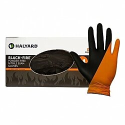 Halyard Black-Fire Nitrile Gloves- XL 140 Pack