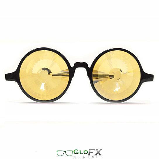 Buy GloFX Black Kaleidoscope Glasses - Gold Wormhole ...