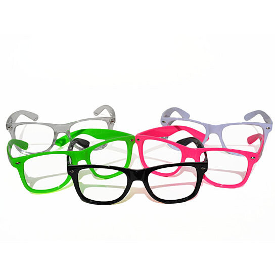 Buy GloFX Nerd Frame Glasses - No Lenses - Rave Eye Wear Diffraction ...