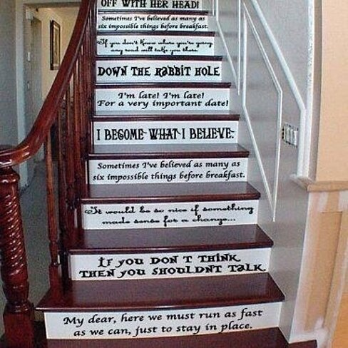 Buy Alice In Wonderland Assorted Quotes Vinyl Wall Decal Or Stairs Decal By Girly Momma Designs
