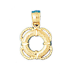14K GOLD NAUTICAL CHARM - LIFE PRESERVER #1205