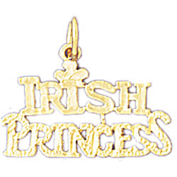 14K GOLD SAYING CHARM - IRISH PRINCESS #10414