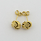 10kt Yellow Gold Shiny Textured 3 Row Small Love Knot Earring