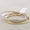 14kt Yellow, White or  Gold Shiny Round Basket Weaved Bangle with Lobster Clasp