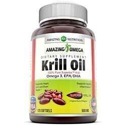 Amazing Nutrition Amazing Omega Superba Krill Oil 500 Mg 120 Softgels