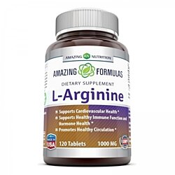 Amazing Nutrition L-Arginine - 1000mg, 120 Tablets