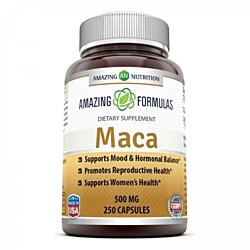 Amazing Nutrition Maca Root Supplement - 500mg Capsules, 250 Capsules