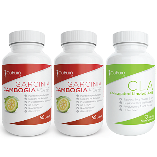 Buy Go Pure Labs Garcinia Cambogia Cla 3 Pack By Go Pure