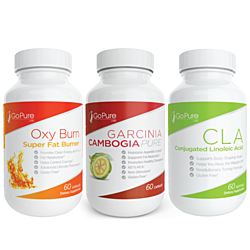 Go Pure Labs Super Weight Loss 3-Pack (Garcinia, CLA and Oxy Burn)