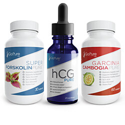 hCG, Forskolin and Garcinina 3 Pack - Hottest sellers all in one pack