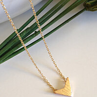 SALE New Gold Anniversary Chevron V Pendant Necklace, Dainty Necklace, Bridesmaid Gift For Her, Dainty Necklaces, Gifts for Best Friends