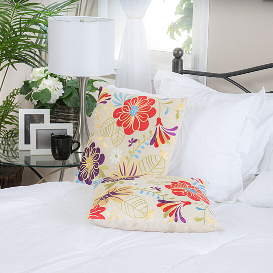 Decorative Bed Pillow Sets : Buy 18
