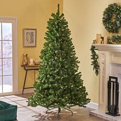 7.5-foot Noble Fir Pre-Lit or Unlit Hinged Artificial Christmas Tree