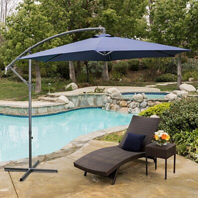 Acosta Outdoor Cantilever Patio Canopy Waterproof Umbrella