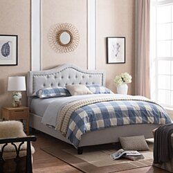 Adelais Fully Upholstered Queen Bed Set