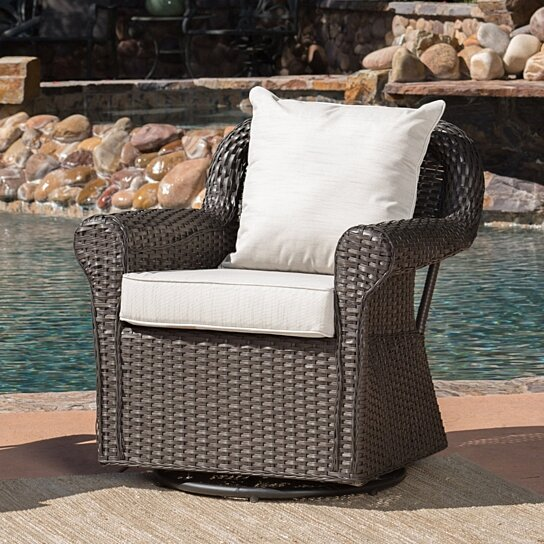 Buy Admiral Outdoor Wicker Swivel Rocking Chair W Water