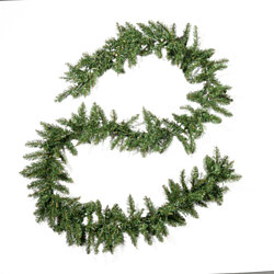 Alia Christmas Garland  9-foot  Pre-Lit  Norway Spruce  Battery-Operated, Includes Timer  Warm White LED Christmas Lights