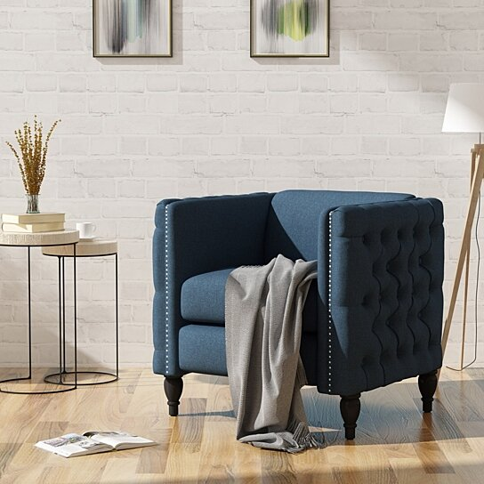 Buy Alice Modern Tufted Fabric Armchair By Gdfstudio On Dot Bo