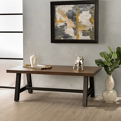 Amesbury Rustic Wood Coffee Table