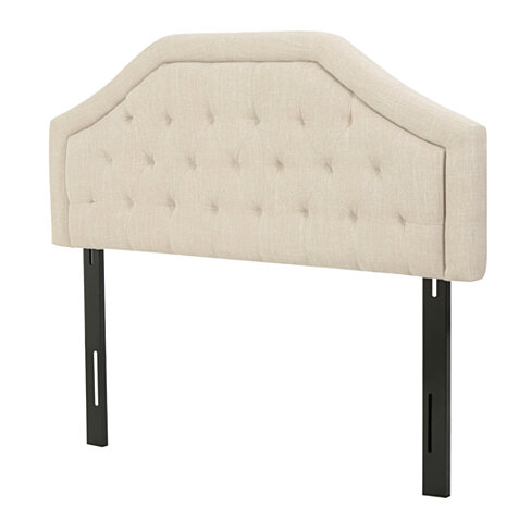 Angelo Tufted Light Beige Fabric Queen/Full Headboard