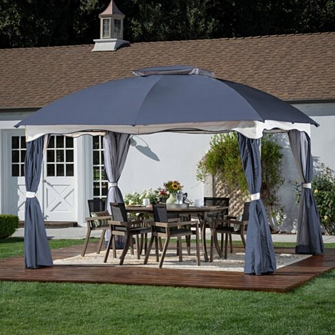 Ava Outdoor 12by10-foot Water Resistant Fabric and Steel Gazebo
