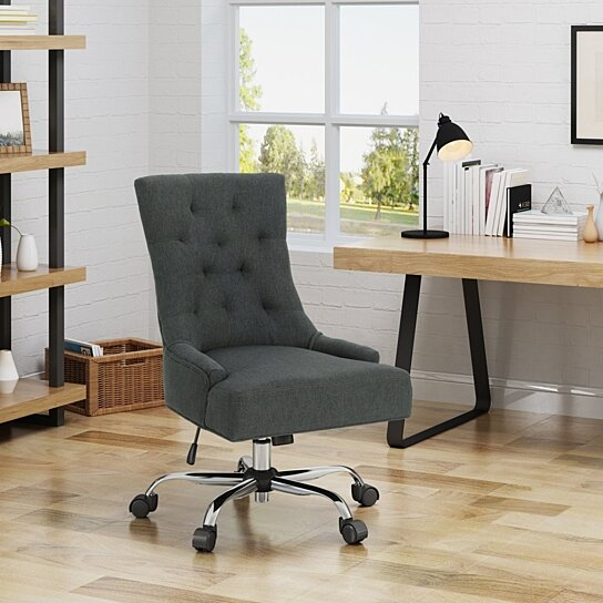 Buy Bagnold Home Office Fabric Desk Chair By Gdfstudio On Dot Bo