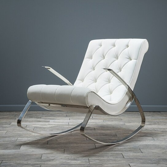 ... -City Modern Design Rocking Lounge Chair by GDFStudio on Dot & Bo