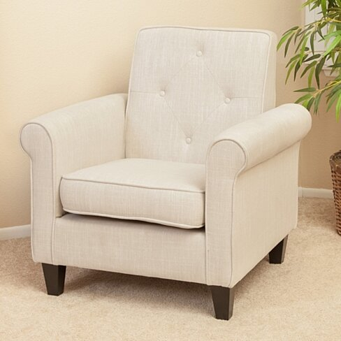 Barzini Light Beige Fabric Club Chair