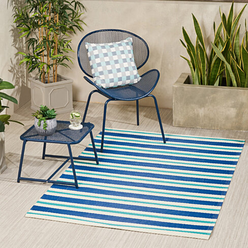 Beatrice Outdoor Modern Scatter Rug