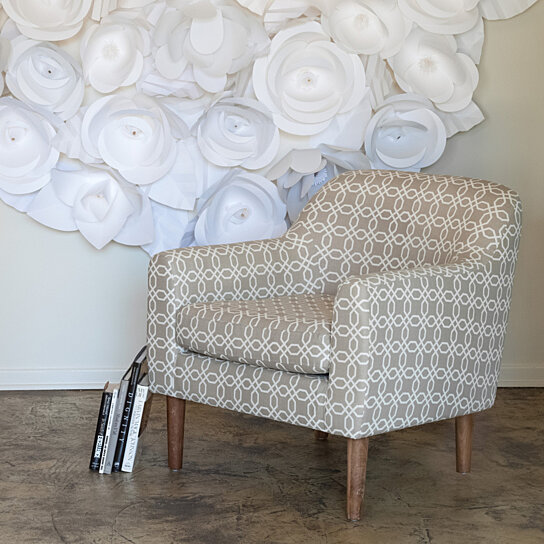 Buy Bellview Grey White Fabric Retro Chair By Gdfstudio On