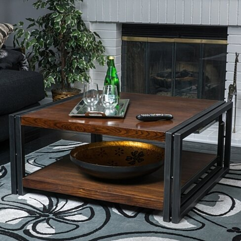 Belmont Dark Oak Wood Coffee Table