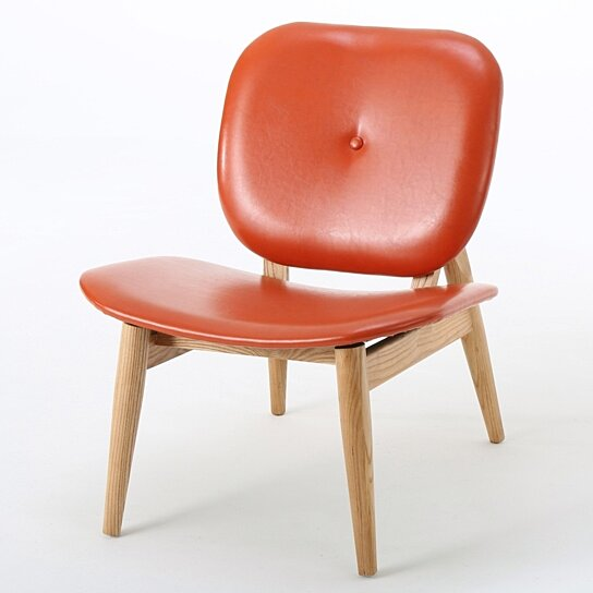 Burnt Orange Accent Wall: Buy Betop Burnt Orange Leather Accent Chair By GDFStudio