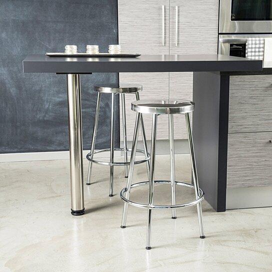 Amazing Beverly 30 Inch Modern Design Chrome Steel Bar Stools Set Of 2 Evergreenethics Interior Chair Design Evergreenethicsorg