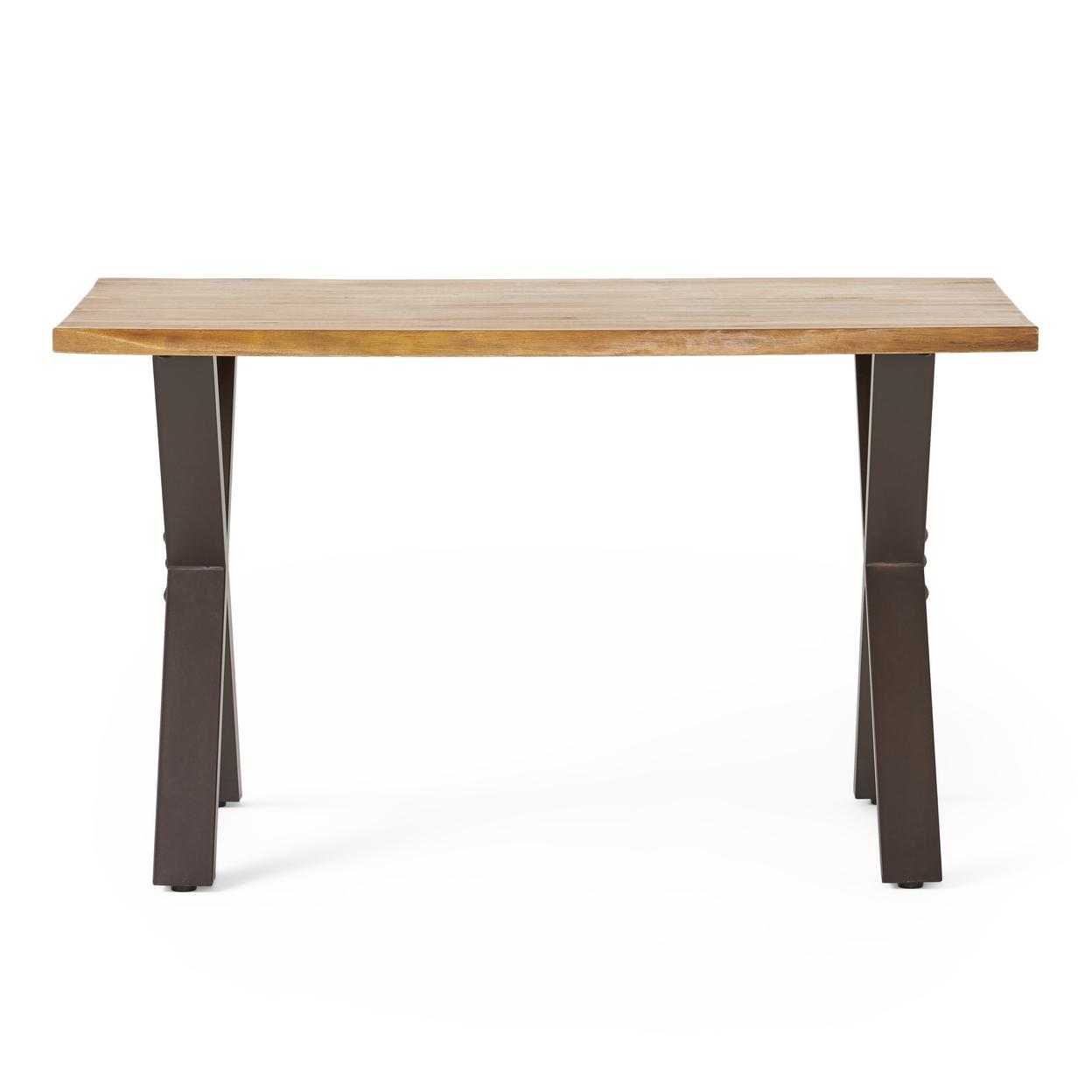 Denise Austin Home Fitzgerald Acacia Wood Computer Desk