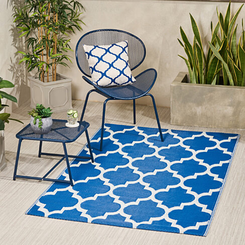 Blanche Outdoor Modern Scatter Rug