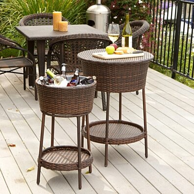 Boise Wicker Bucket 2pc Set