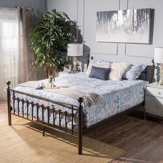 Terrific Bradford Queen Size Brown Bed Frame Machost Co Dining Chair Design Ideas Machostcouk