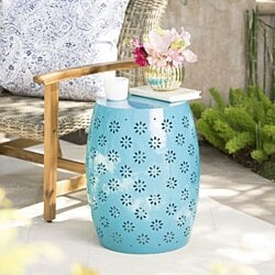 "Breeze Outdoor 15"" Iron Side Table"