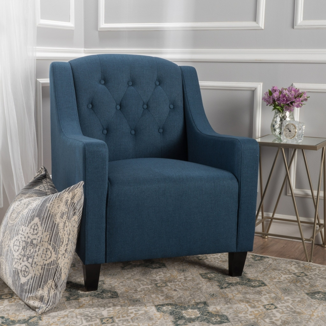 Bremner Tufted Back Club Chair - Royal Blue 5936d4dac98fc47d1350ed7d