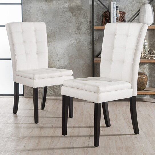 Buy Butterfield Beige Fabric Dining Chair (Set Of 2) By