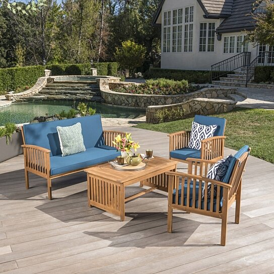 Patio Furniture Cape Town: Buy Cape Town Outdoor Acacia Wood Sofa Set With Water