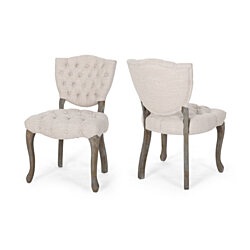 Case Tufted Dining Chair with Cabriole Legs (Set of 2)