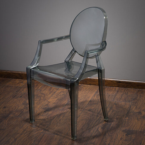 Cayden Transparent Black PC Ghost Armchair