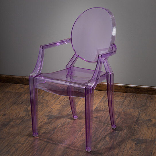 Buy Cayden Transparent Purple PC Ghost Accent Chair By GDFStudio On Dot U0026 Bo