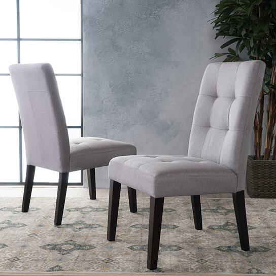 Buy Chaplin Tufted Dining Chair Set Of 2 By Gdfstudio On Dot Bo