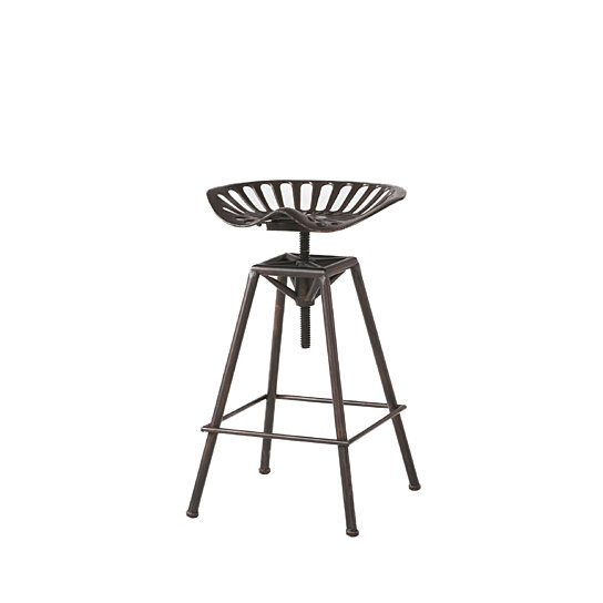 Fantastic Charlie Industrial Metal Design Tractor Seat Adjustable Bar Stool Black Brushed Copper Lamtechconsult Wood Chair Design Ideas Lamtechconsultcom