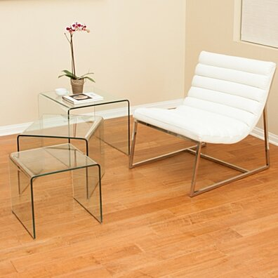 Charlize Glass Coffee Table (Set of 3)